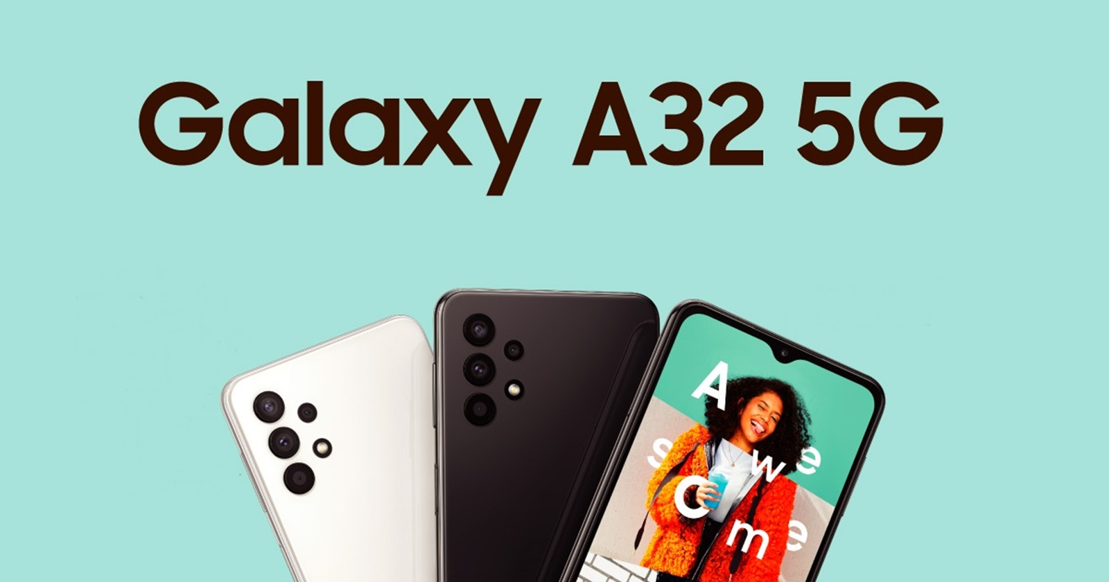 Samsung Galaxy A32 5G Official!  Cheap 5G phone from Samsung with quad camera and 5000 mAh battery on the back