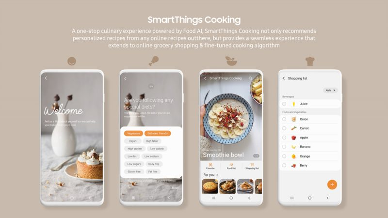 Samsung Introduces Smart Dings Cuisine at CES 2021 – Recipes Recommended and Guided by the Cooking Process