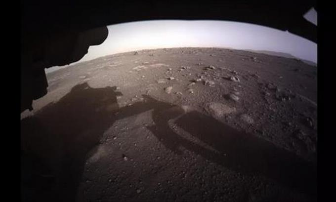 According to photos sent by the diligent rover it is Mars seen in full color