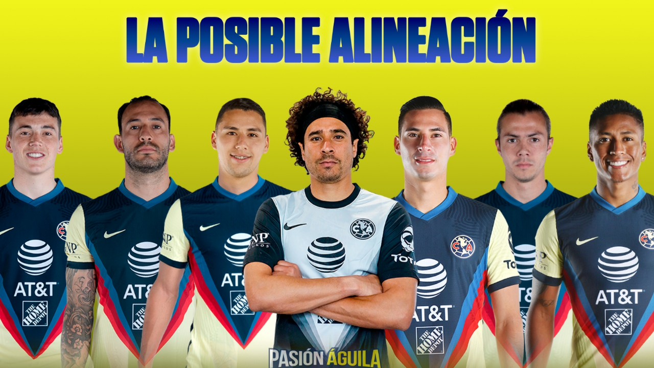 America's potential lineup for the match against Atlas