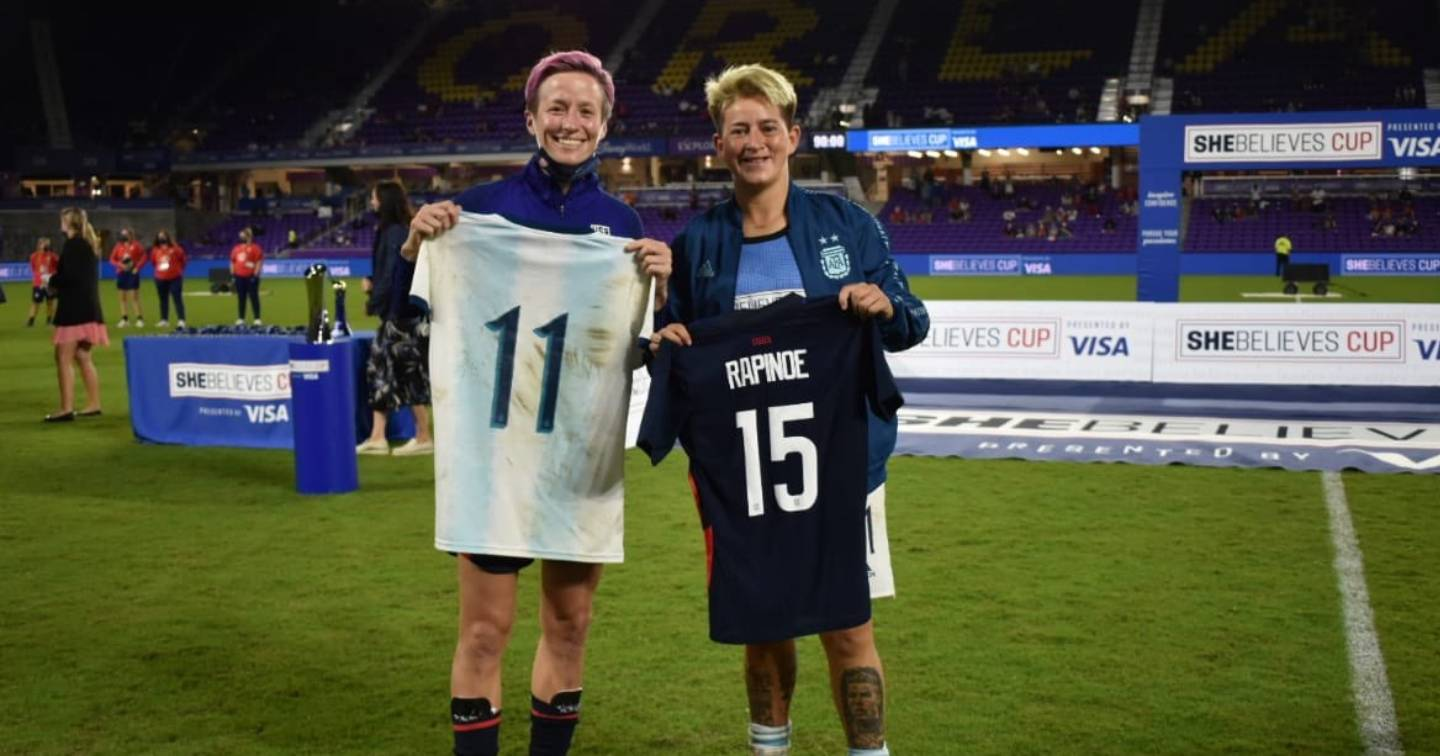 Exchange of shirts that exposed injustice in Argentine women's football
