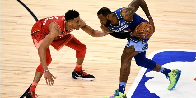 NBA: LeBron and Torrent All-Star Game |  Here begins the sequence