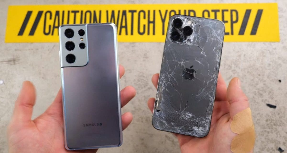 The plastic of the S21 will last better than the Gorilla Glass Victus on the S21 Ultra!  A drop test with the iPhone 12 Pro Max (video) + one here