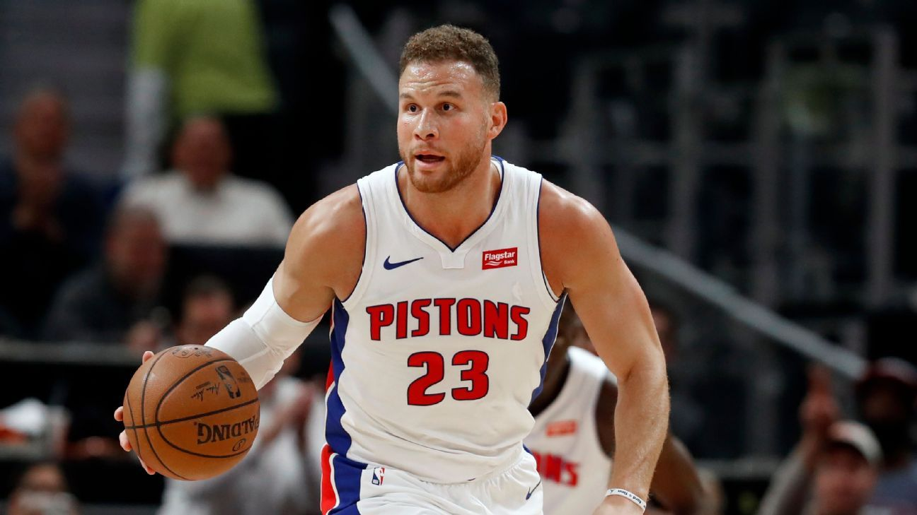 Detroit Pistons agrees to terminate Blake Griffin's contract, becomes free agent