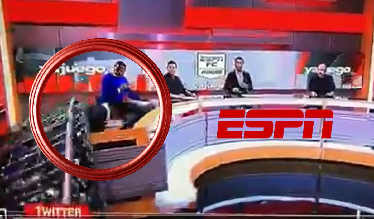 ESPN accident;  Live configured with panelist video
