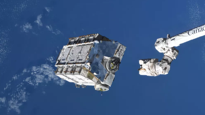 The International Space Station dumped 2.9 tons of space debris, the largest ever released
