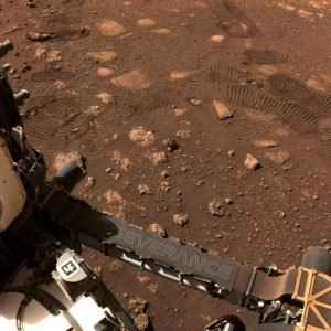 The diligent robot made its first voyage to Mars and photographed the tracks it left behind