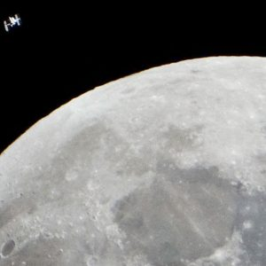 The photographer captured a strange image of the ISS as it passed in front of the moon