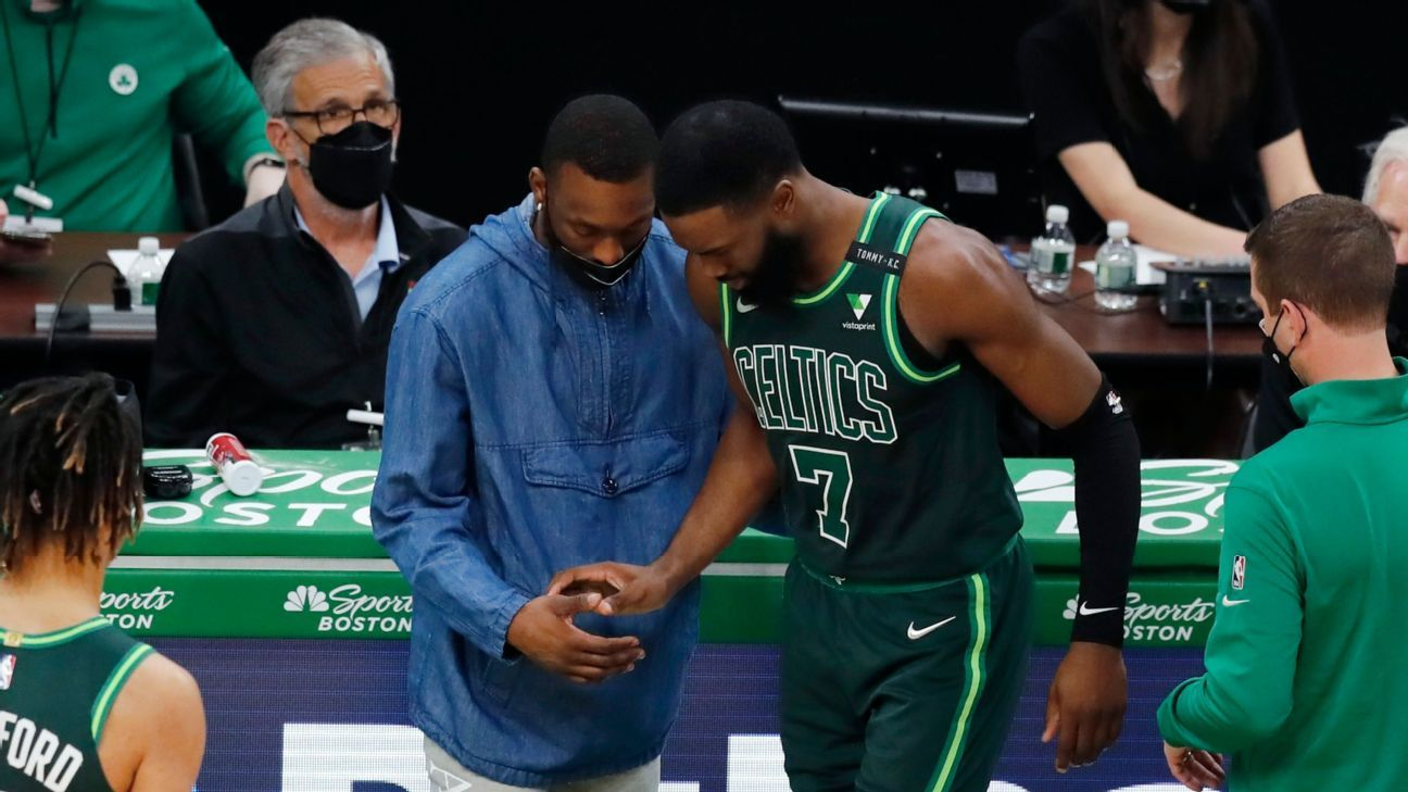 Jaylan Brown and Jason Todd injured in a clash with the Blazers at the loss of the Celtics