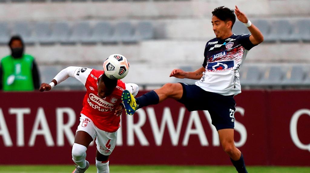 Santa Fe Versus.  Jr., in Ambato, to the Copa Libertadores