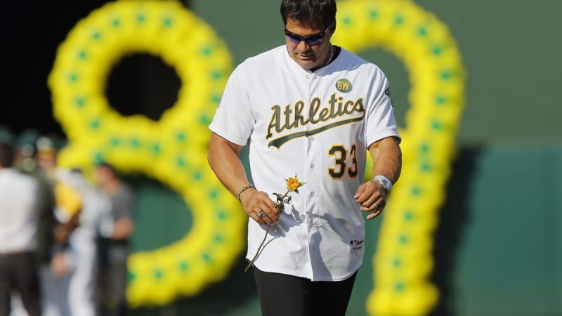 Surprise!  Jose Canceco explains how he lost his wealth and was able to sleep in a garage