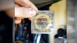 The Sydney blokes discovered a XXX VIN Diesel promo condom inside a long-buried safe.