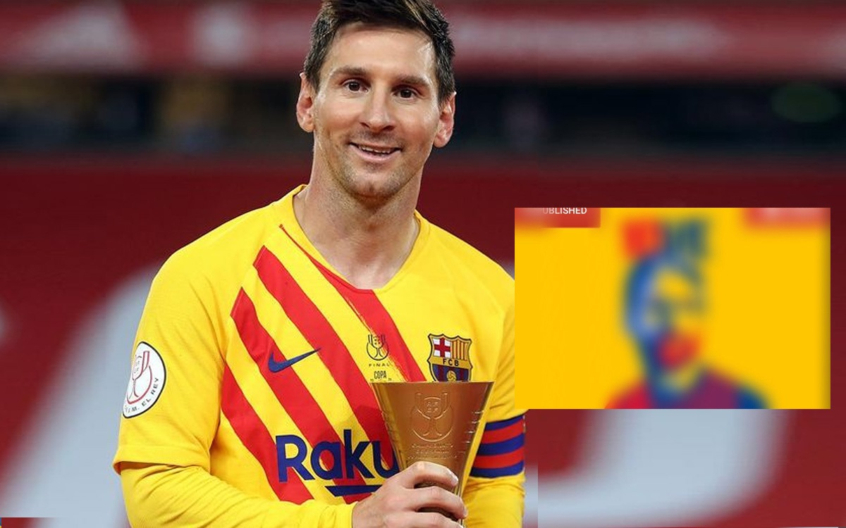 They are filtering out a poster confirming Messi's renewal with Barcelona