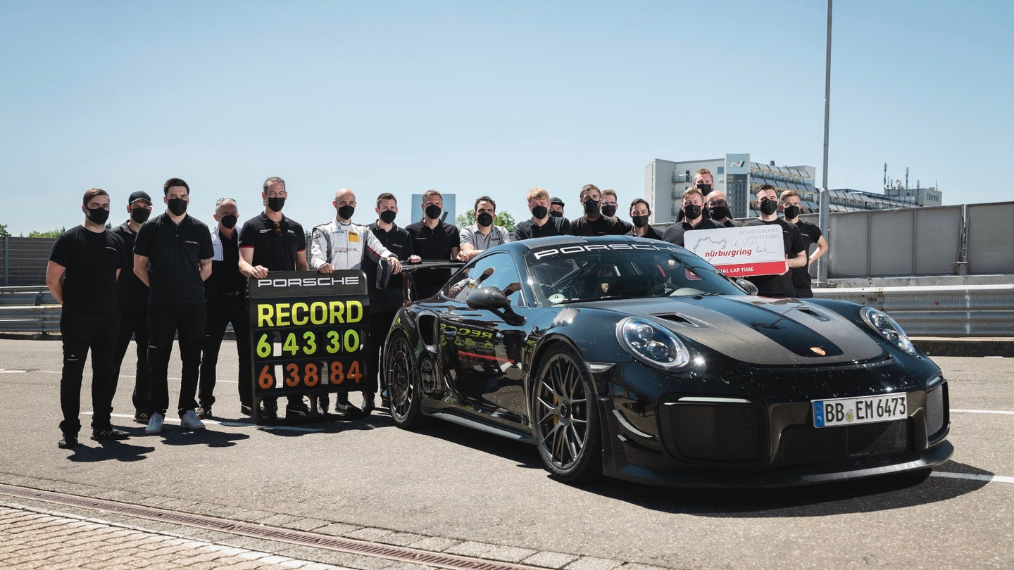 Manthey- Kitted Porsche 911 GT2 RS NABS claimed production car Nurburgring record