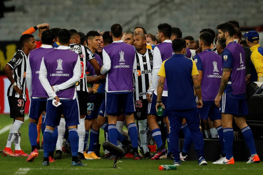 Insult, offense and destruction at the Minro Stadium in Brazil for expelling Boca Juniors at the Copa Libertadores |  Football |  Sports