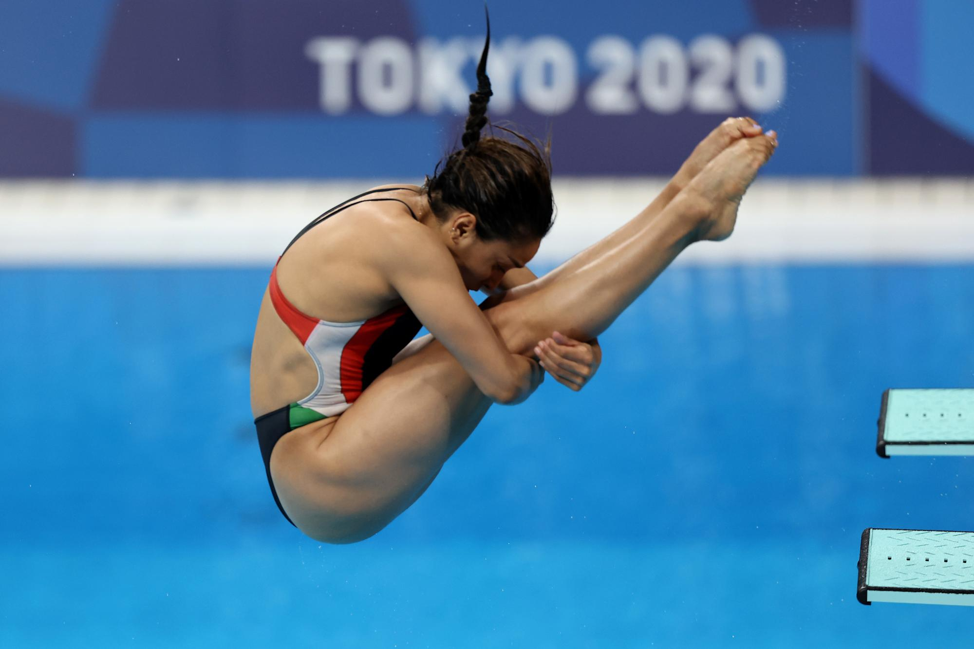 Mexican Arantza Chavez's dive, which qualified with zeros … sent her to last place