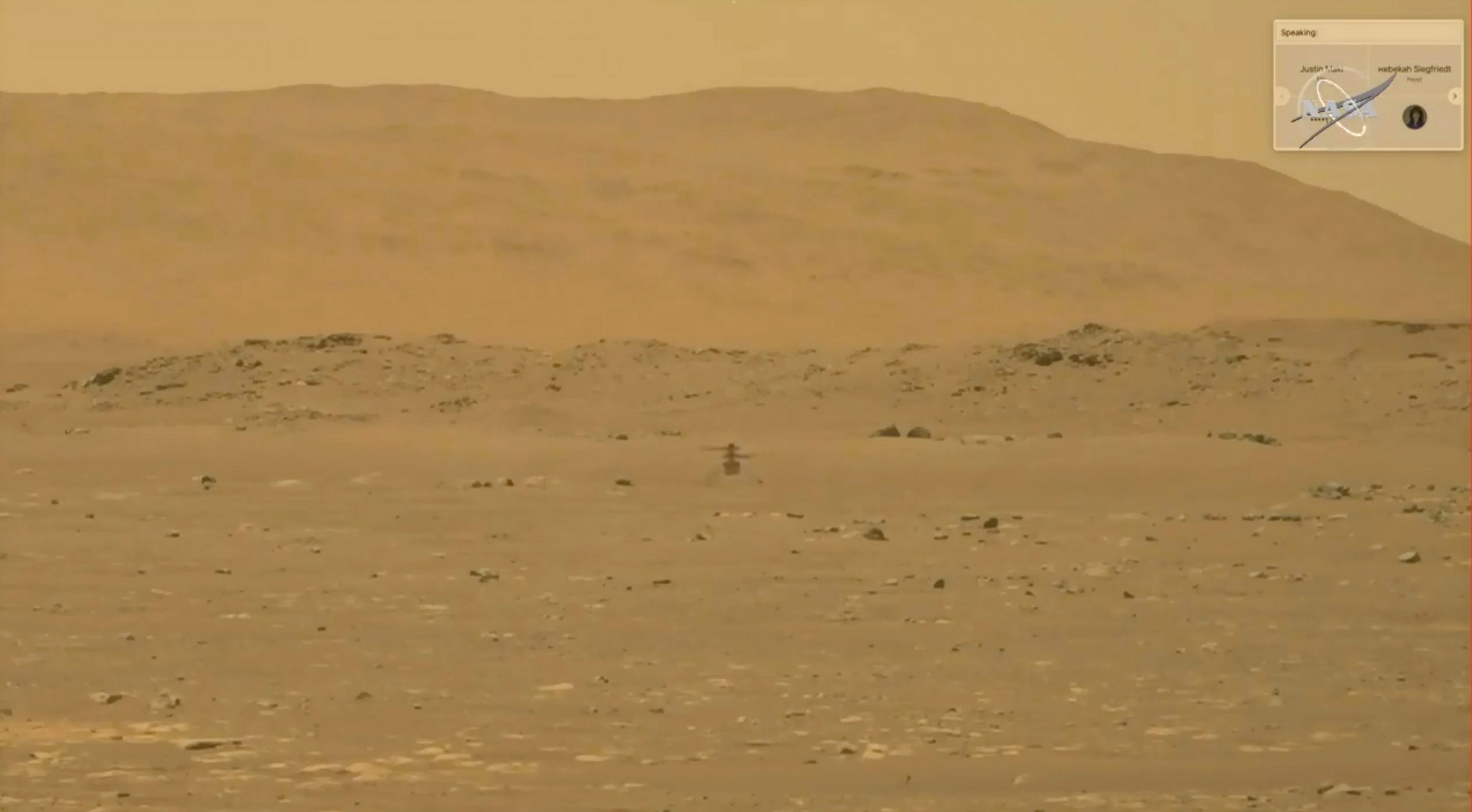 New color photos taken by a NASA ingenious helicopter on Mars
