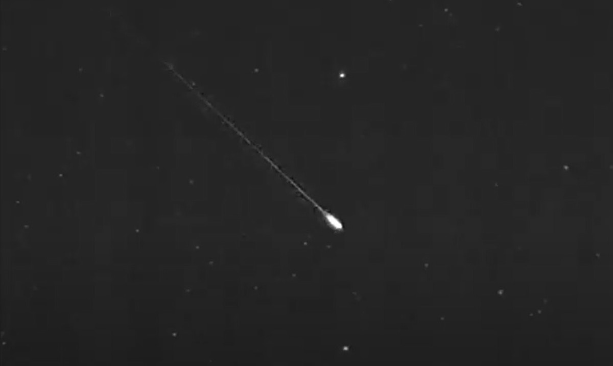 The meteor was visible for half a minute longer than Puerto Rico