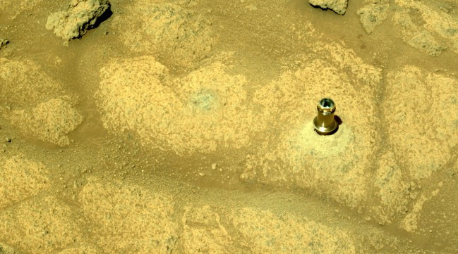 They found a strange object sticking out of a rock on Mars: what is it?