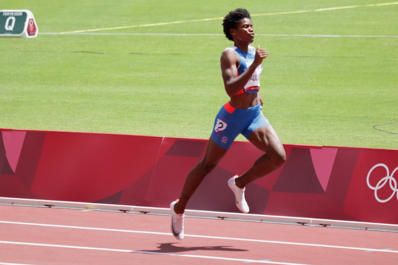Dominican Merrill Paulino won first place in the 400 meters