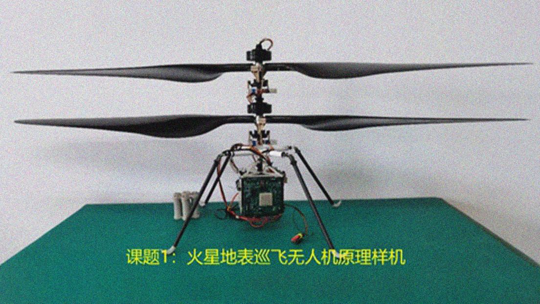 Photo: China delivers a small robotic helicopter to support its future missions to Mars