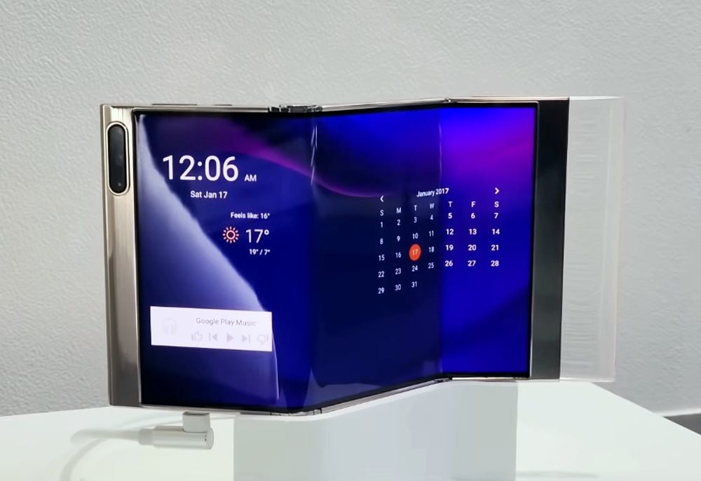 Samsung shows its foldable phone with three screens