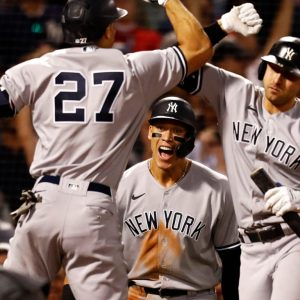 The Yankees wiped out the Red Sox and climbed to the 1st wild card