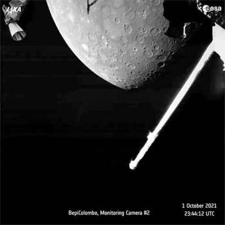 The BepiColombo mission sends the first images of Wednesday