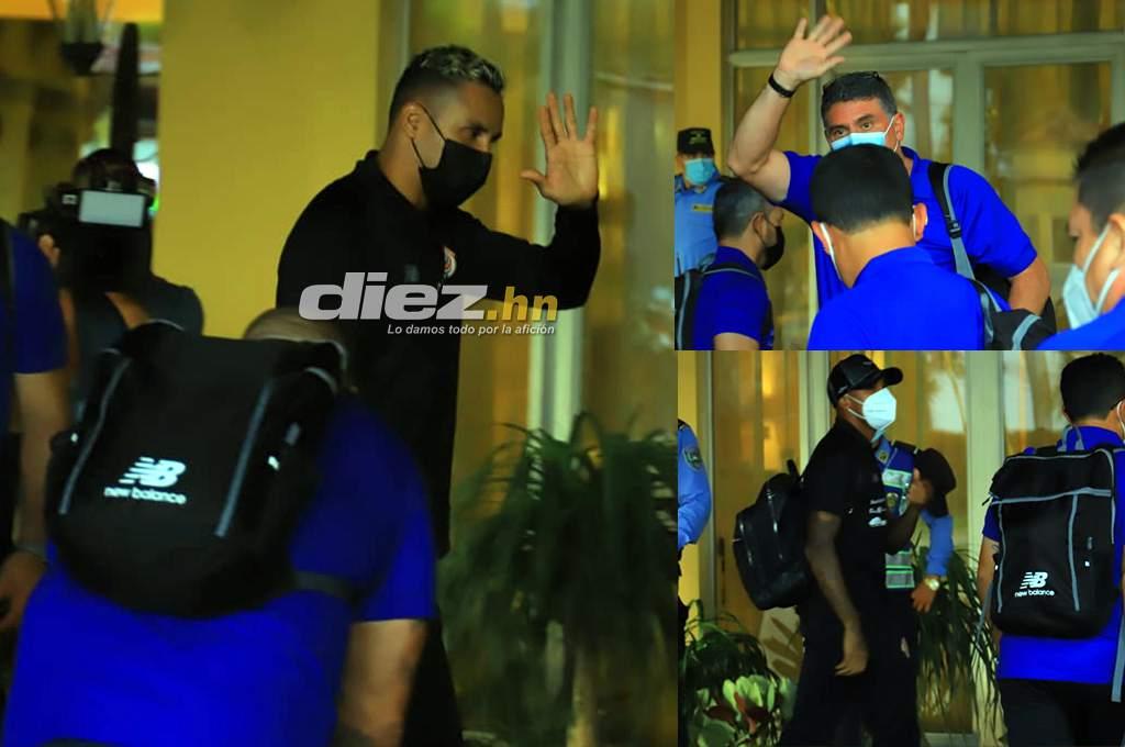 The entire delegation from Kilor Navas, Luis Suarez and Costa Rica arrived in San Pedro Sula Honduras – ten
