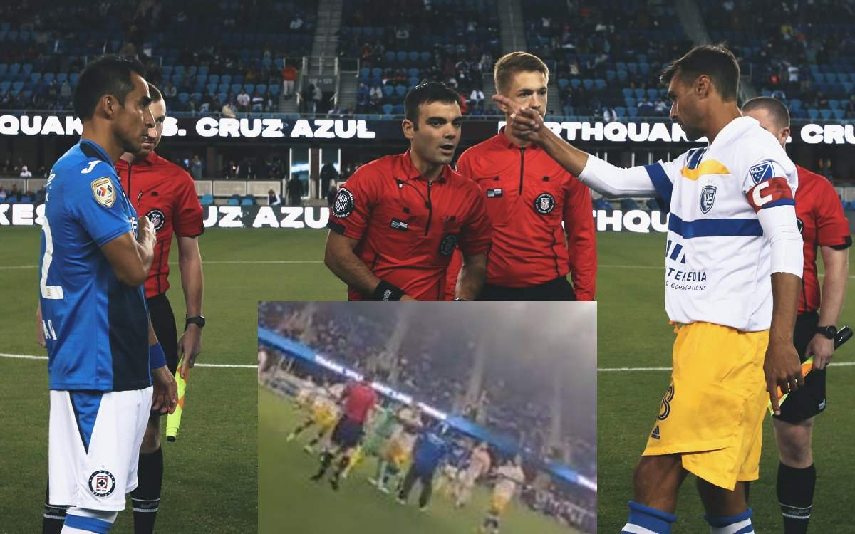 Video    Cruz Azul went down to the fan field and hit the player San Jose